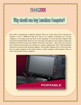 Why Should one buy Lunchbox Computer