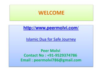 Islamic Dua for Safe Journey