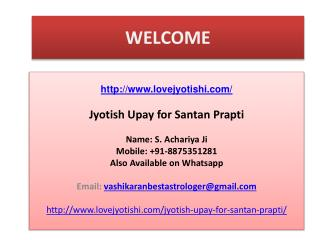 Jyotish Upay for Santan Prapti