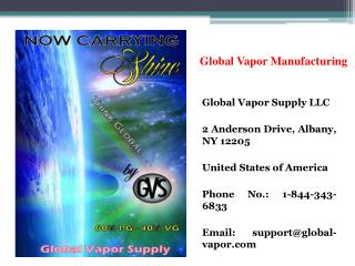Global Vapor Manufacturing