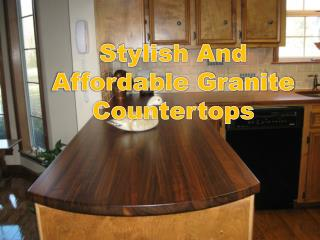 Stylish And Affordable Granite Countertops