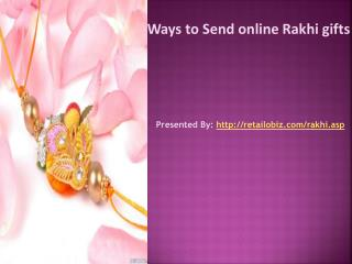 Ways to Send online Rakhi gifts