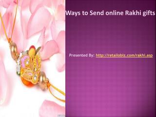 Ways to Send online Rakhi gifts