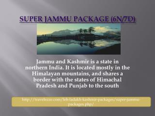 Super Jammu Package (6N/7D)