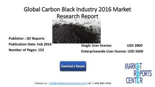 Global Carbon Black Industry 2016 Market Research Report