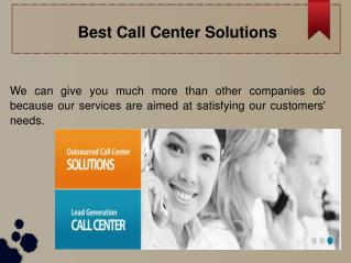 Best Call Center Solution