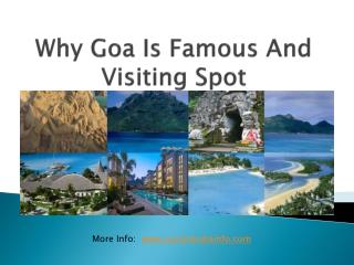 Why Goa Is Famous Natural Beautiful Visiting Spot