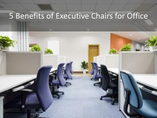 Benefits of Executive Chairs for Your Workplace