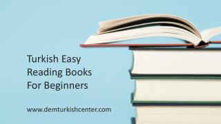 Turkish Reading Books for Beginners