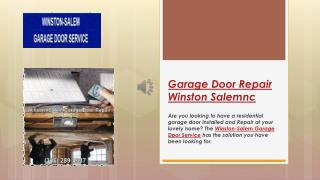 Garage Doors Winston Salem | Garage Door Spring Repair