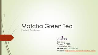 Get Healthy Drink of Matcha Green Tea