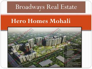 Hero Homes Mohali - www.broadwaysrealestate.com