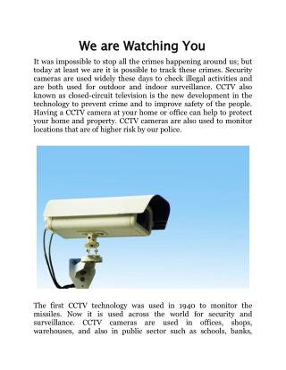 We are Watching You