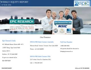 Epic Research Weekly Equity Report of 14 March 2016