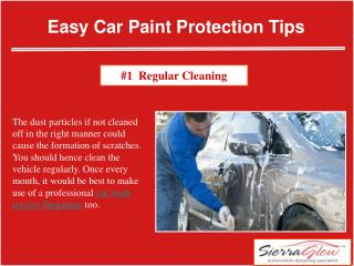 Easy car paint protection tips