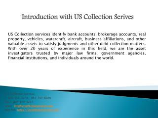 Commercial Asset Investigation- US Collection Services