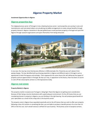 Villas to buy in algarve