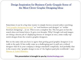 Design Inspiration for Business Cards: Grapple Some of the Most Clever Graphic Designing Ideas