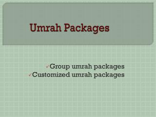 Umrah information