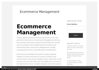 Ecommerce Management Tips, Tricks and how to ?