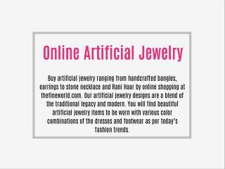 Online Artificial Jewelry