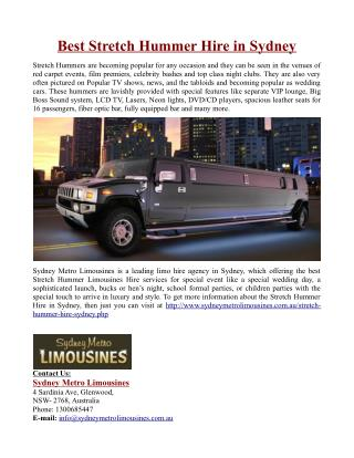 Best Stretch Hummer Hire in Sydney