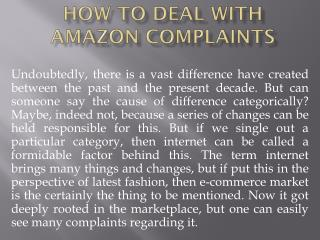 How to Deal with Amazon Complaints