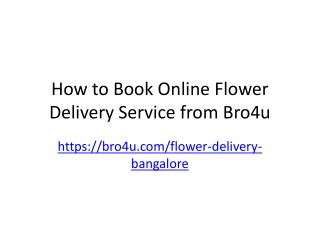 Book Online Flower Delivery Service in Bangalore