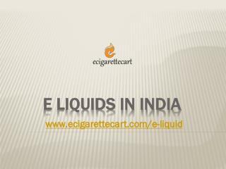 E Liquid in India