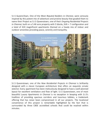 Ongoing residential Projects in Chennai