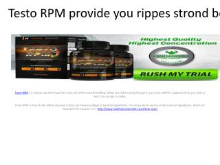 Testo RPM - Boots the testosterone levels in your body