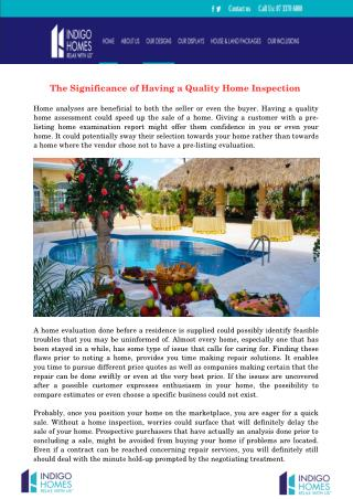 The Significance of Having a Quality Home Inspection