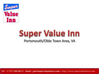 Get the Convinient Accomodation & Amenities at Super Value Inn, VA