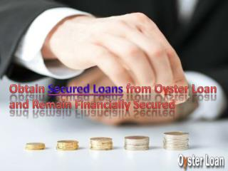 Personal secured loans