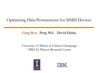 Optimizing Data Permutations for SIMD Devices