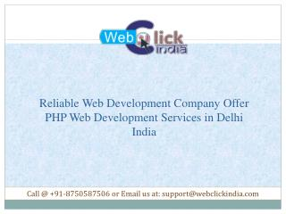 PHP Web Development Services in Delhi India | Website Development Company