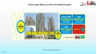 Nirala Aspire Apartments Book Now Shift Next Year