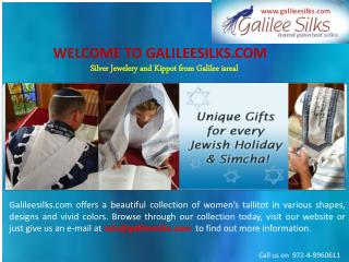 Silk tallit and jewlery at galileesilks com