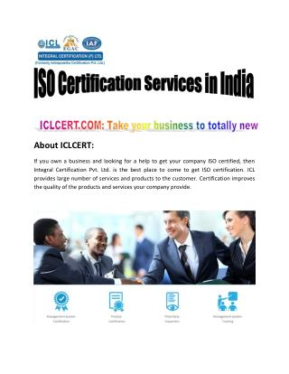 ICLCERT: ISO Consultant Lucknow, ISO Certification Services in Lucknow