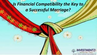 Is financial compatibility the key to a successful marriage?