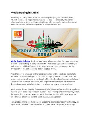 Media Buying in Dubai