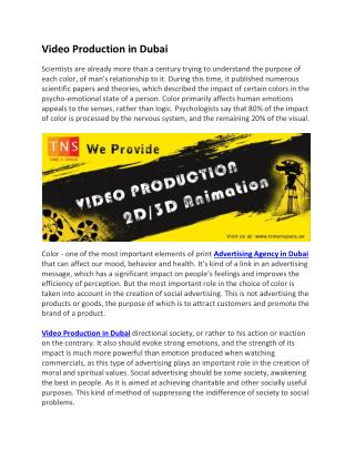 Video Production in Dubai