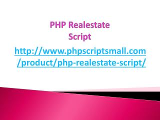 PHP Realestate Script
