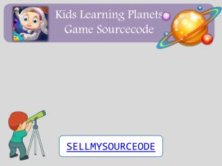 Kids Learning Planets Game Sourcecode