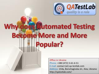 Why does Automated Testing Become More and More Popular?