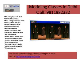 modeling classes in delhi , modeling school in india, Top 5 Acting Schools in Delhi