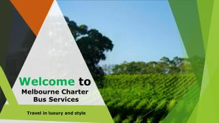 Melbourne Charter Bus Service - Bus Hire in Melbourne is Easy