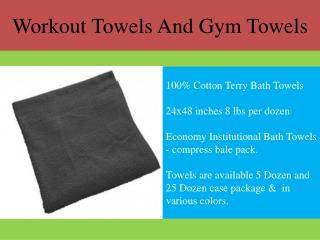 Workout Towels And Gym Towels