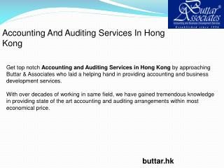 Accounting And Auditing Services In Hong Kong