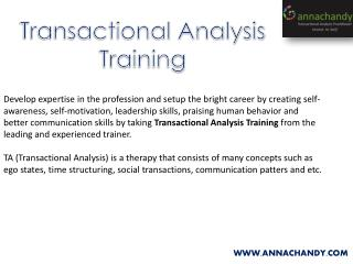 Transactional Analysis Training